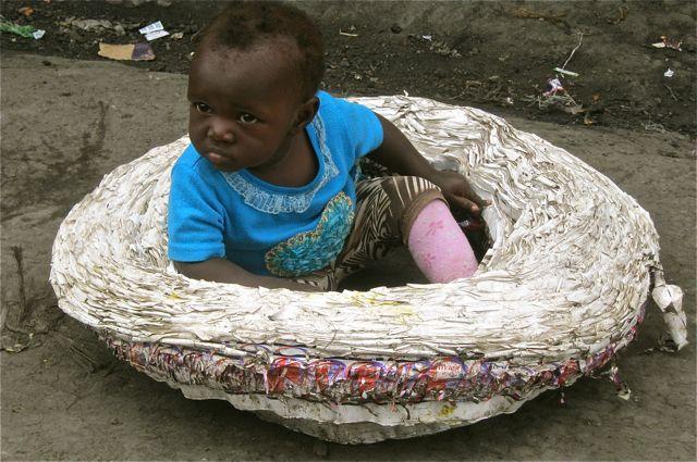 Baby in Mukuru Informal Settlement